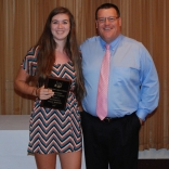 Julia Matson received the Grade 11 Math Academic Achievement Award from math teacher Fred Damon.