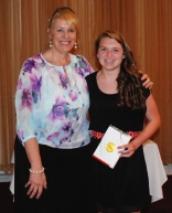 Junior Kara Penney was presented the St. Michael's College Book Award by Assistant Principal Susan Patton.