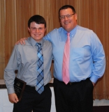 Junior Brian Cohen received an Academic Achievement Award for Business, presented by math teacher Fred Damon