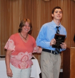 Sophomore Michael Ivanoskos won an award for Physical Education from by Physical Education Director Brenda Folsom.