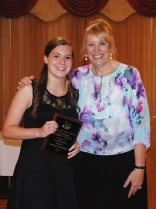 Sophomore Sarah Margolis was a Multi-Award Winner for Mathematics and Science. Her award was presented by Assistant Principal Susan Patton.
