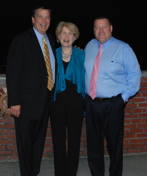 Inducted into the RHS Academic Hall of Fame on June 4 were left to right, Wayne Owen, Marsha Fader and Fredrick Damon.