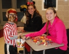 Katie DeLorey and Kara Penney with a pirate