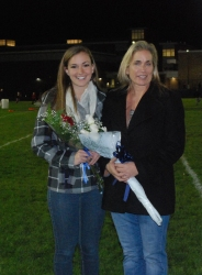 Katie DeLorey was escorted by her mother, Lisa DeLorey.