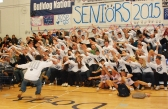 The senior class were spirit champs with their roller coaster ride!
