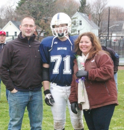 #71 Zachary Rothwell accompanied by his parents, Maryellen and Scott