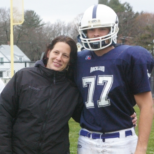 #77 Edward Gorman escorted by his mother, Melissa