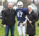#87 Edward Yeadon escorted by his parents Laura and Edward
