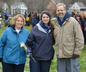 Alyssa Collins with her parents Chris and Michelle Collins