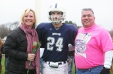 #24 Captain Joey Reardon with his parents, Jeanine and Jim