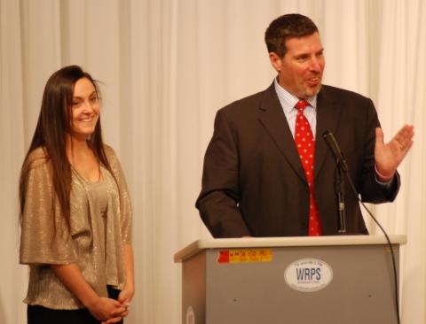 Alexandra Pigeon and RHS Principal Alan Cron