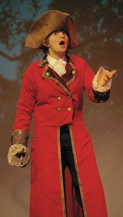 Leah Dececco plays Captain Hook in the Theater Guild's production of Peter Pan