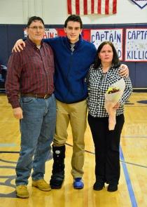 Matt Clougherty and his parents