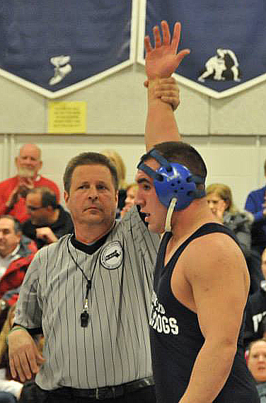 Senior Dennis McPeck had a great wrestling season  for the Dogs photo by Kelley Reale