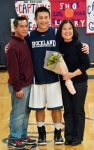 Justin Nguyen and his mother and father