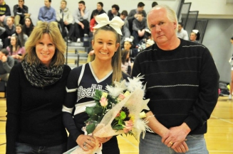 Kelsey Girard with her parents