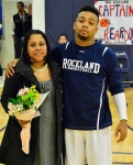 Leshon Crawford and his mom