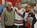 Matt Ryan with his mother, high school nurse Kathi Ryan and his dad.