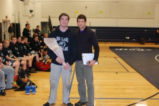 Senior Pearse McNally with Coach Tim Brown