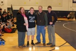 Abington senior, Troy Panico with his Mom and Dad and Coach Brown