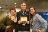 Haley Macray, Adam Royle, & Katie DeLorey with the MASC Gold Council Award