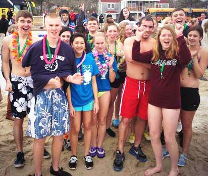 RHS SGC members get ready to take the Plunge at last year's conference.