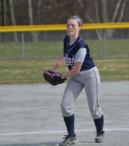 Allie Sammon pitched a complete game for the Lady Dogs against Abington.  photo by Bob Whitney/Twitter