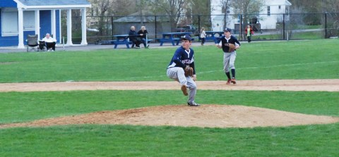 Brian Cohen on the mound last year.  Veritas file photo.