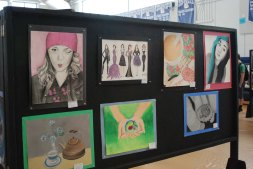 Haley Macray and Hailey Smith's artwork on display