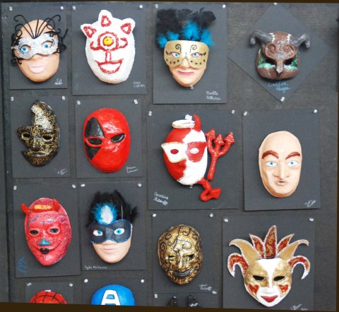 This masks and more will be on display at the Arts Festival.