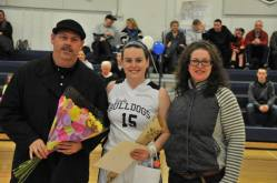 Molly McDonough with her parents