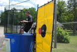Dr. Cron goes for a swim in the dunk tank!