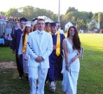 Kevin Levesque and Abigail Kinlin lead the Class of 2015 procession.