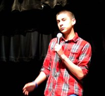 Mike Belmonte was one of ten finalists in the Sophomore Story Slam. photo by Jurnee Dunn