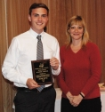 Adam Royle was a multiple award winner, receiving the Academic Achievement Award in Family Consumer Science and Technical Education. Presenting the award was Guidance Director, Melanie Shaw.