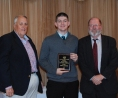 Freshman Aiden Glennon with Richard Phelps and John Retchless. Aiden received the award for Overal Academic Achievement in Grade 9.