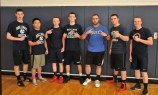 Kevin Levesque's team Matt Kirslis, Jonny Nyugen, Josh Thompson, Jake Crawford, Dennis McPeck, Kevin Levesque, and Mike Ahearn