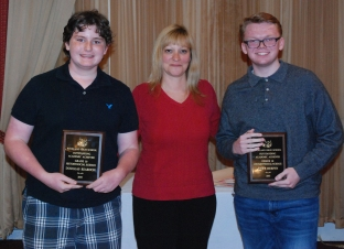 Sophomores Douglas Reardon and Evan Murphy received awards in History/Social Science. Guidance Director Mrs. Shaw presented the awards.