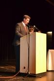 Dr. Alan Cron at the senior academic awards banquet