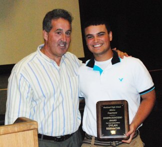 Dylan Bernache received the Joseph Dondero Award as a top scholar athlete.