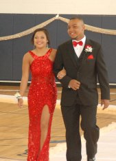 Leshon Crawford and his date.