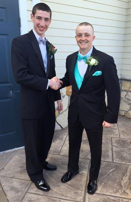 Senior Class Vice President Matt Kirslis (left) and Senior Class President Mike Ahern (right) before the 2015 Junior Prom have already started plans for next year's big event.