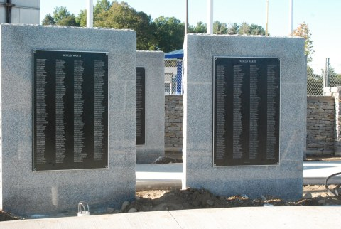 The new Veterans Memorial plaques are ready to be dedicated on Sunday, Sept. 27.