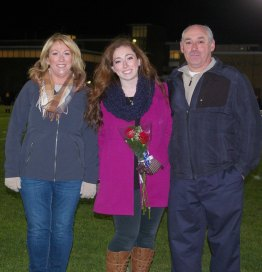 Ashley Pezzella with her mother, Michelle and her father Mike
