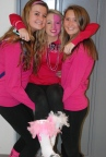 Juniors Lexi Murphy, Haley Rice and Mariah Richards show their love for breast cancer awareness.