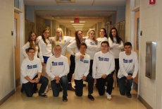 Mr. Neal's AP English Literature class on Class T-Shirt Day