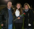 Lexie Carchedi is accompanied by her parents, Steve and Debbie.