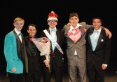 Mr. Rockland, Zach Pransky with Bill Parlee, Mark Ewell, Mike Ivanoskos and Ryan Sugrue photo by Megan Lund