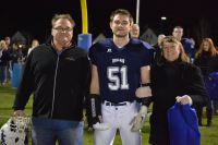 Austin Gareau with his parents, Michelle and Dennis