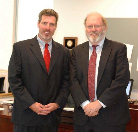 Dr. Alan Cron, RHS principal and John Retchless.